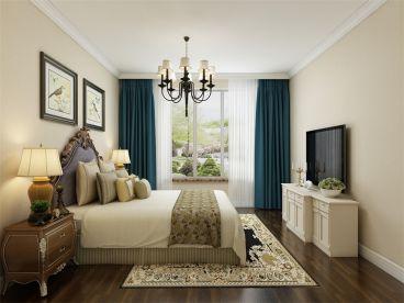莱茵翠景美式卧室效果图
