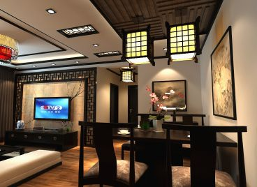 绿都皇城新中式餐厅效果图