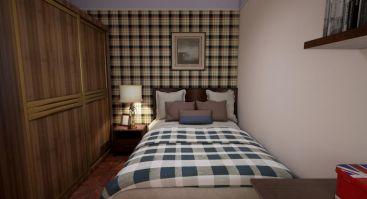 四季华庭美式卧室效果图