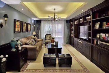 北京城建·福润四季三室一厅新中式装修效果