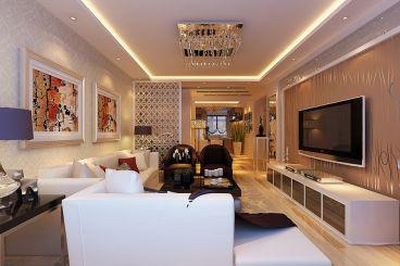 世纪龙庭三室二厅120平装修效果图