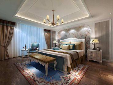 金地澜悦欧式古典卧室效果图