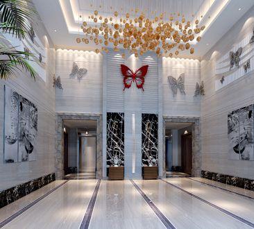 公寓楼厅全包400平装修效果图