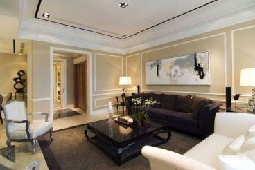 嘉盛华府新中式三室二厅装修效果图