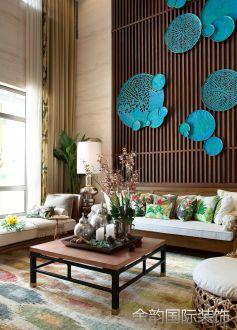 碧桂园生态城别墅东南亚五室三厅装修效果图