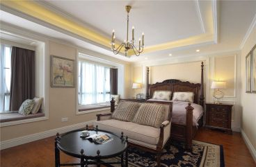 银亿东城美式卧室效果图