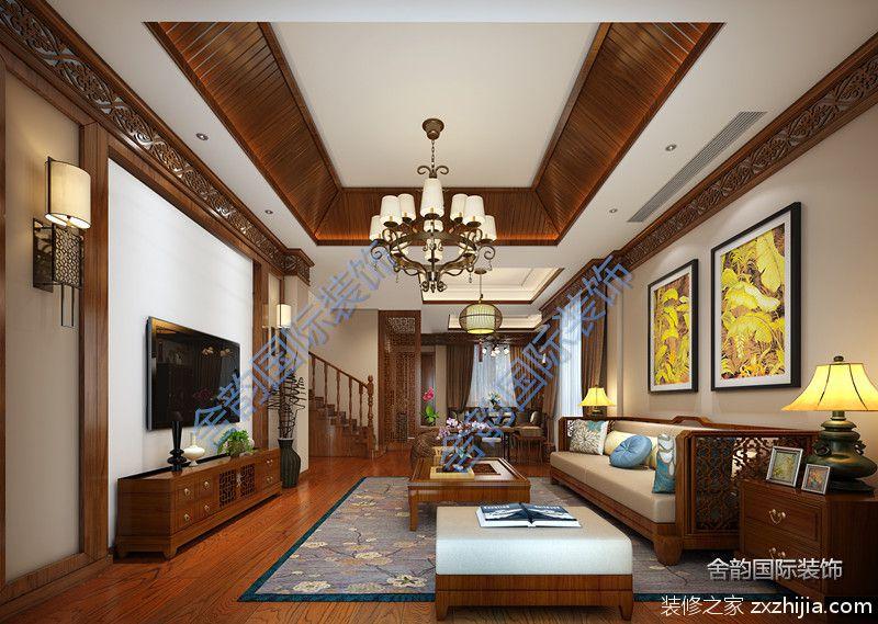中式风的阐释全包二室二厅装修效果图