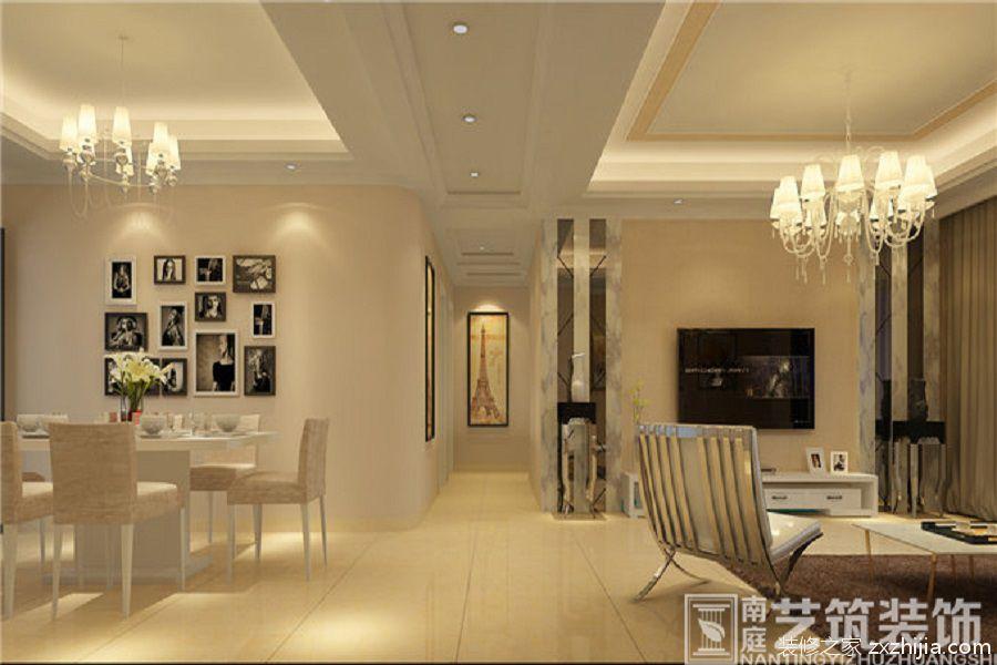 高新艾湖小区三室二厅100平装修效果图