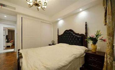 中海河山郡美式卧室效果图