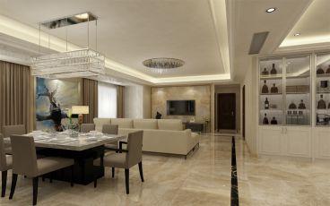 华福御水岸现代简约四室二厅装修效果图