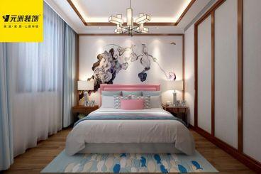 绿地百合新中式卧室效果图