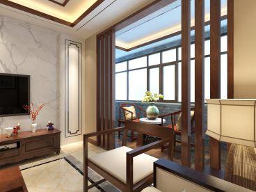 朐山国际新中式阳台效果图