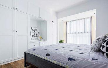 中南世纪雅苑时尚混搭卧室效果图