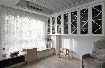 融创国博城现代简约书房效果图