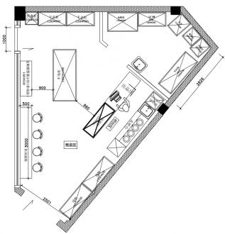 工业风面包店工业风客厅效果图