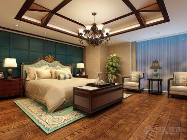 和桥丽致酒店公寓东南亚卧室效果图