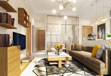东恒时代一期现代简约二室一厅装修效果图