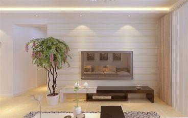 万达文旅城二期98平一室一厅装修效果图