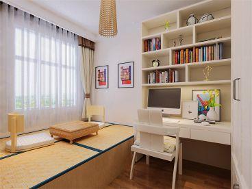 澜湾半岛新中式书房效果图