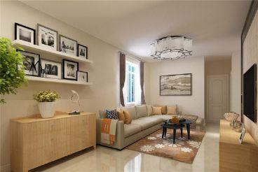 海通园二室一厅现代简约装修效果图