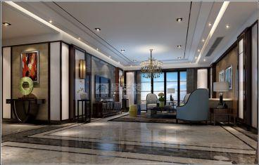 苏州橡逸湾新中式三室一厅装修效果图