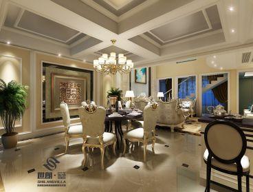典雅花园复式欧式古典餐厅效果图