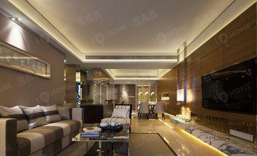 盛泰时代山新中式客厅效果图