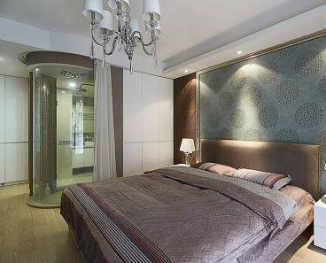 复地东湖国际时尚混搭卧室效果图