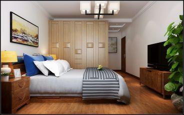 中建国玺台新中式卧室效果图