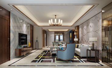 格力海岸新中式四室二厅装修效果图
