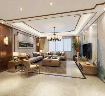 中海国际公馆132平三室二厅装修效果图