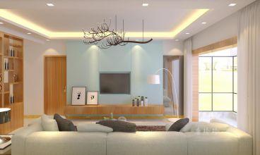 东旭骏城152平三室二厅装修效果图