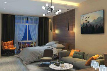 馨福公寓全包一室一厅装修效果图