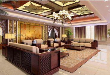 天伦随园中式五室二厅装修效果图