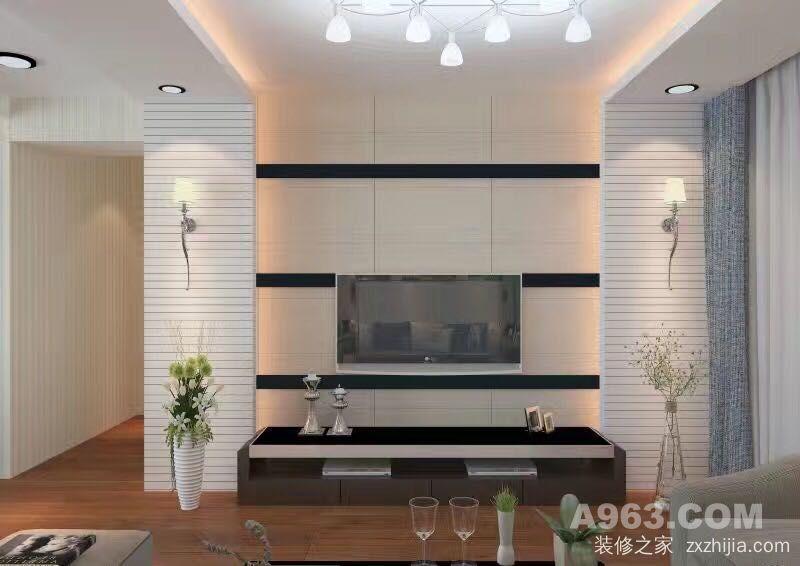 山水黔城二室一厅现代简约装修效果图