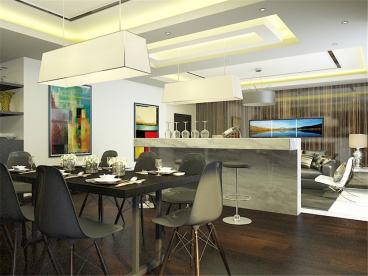 世嘉洋房现代简约餐厅效果图