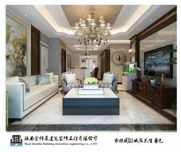 香槟国际城130平欧式古典装修效果图