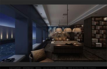 冰玉美容新中式零室零厅装修效果图
