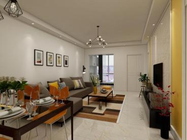 领袖青春二室一厅现代简约装修效果图