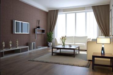 阳光国际二室一厅半包装修效果图