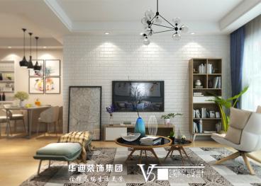 碧桂园滨湖城二室一厅90平装修效果图