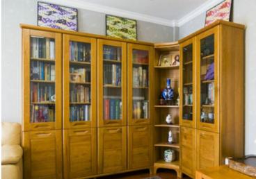 王家湾中央生活区时尚混搭书房效果图