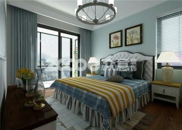 普华浅水湾地中海风格卧室装饰效果图