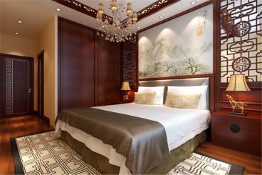 林语溪岸新古典卧室效果图