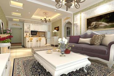 金阳新区奥林花园二室二厅简欧装修效果图