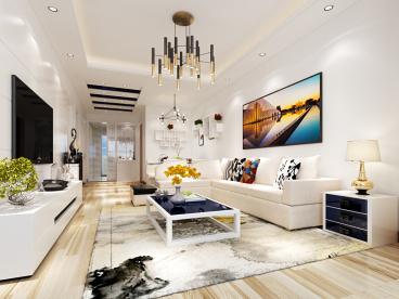 林机小区纯设计二室一厅装修效果图
