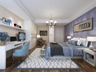 奥莱城现代简约卧室效果图