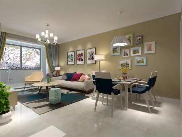 翡翠绿洲90平三室二厅半包装修效果图