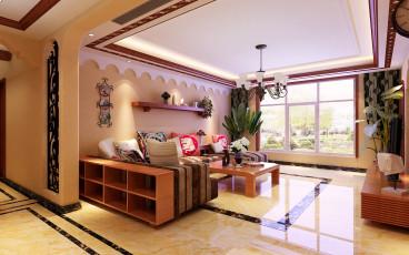 巴国龙庭东南亚客厅效果图