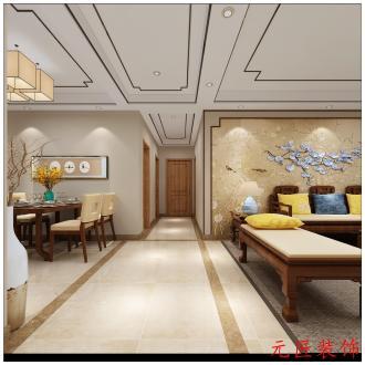 绿地隆悦公馆全包三室二厅装修效果图